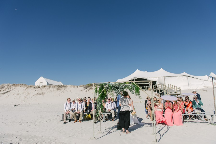 A Beautiful Beachy Wedding With Rustic Beach Wood, Coral & Peach Manu & Jennifer (78)