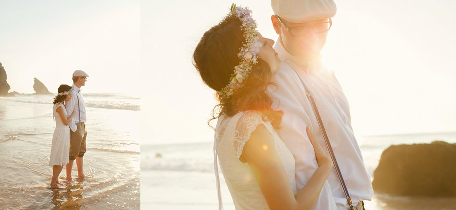 An Intimate, Light Filled Beach Wedding With Gorgeous Vintage Details: Daniel & Doreen