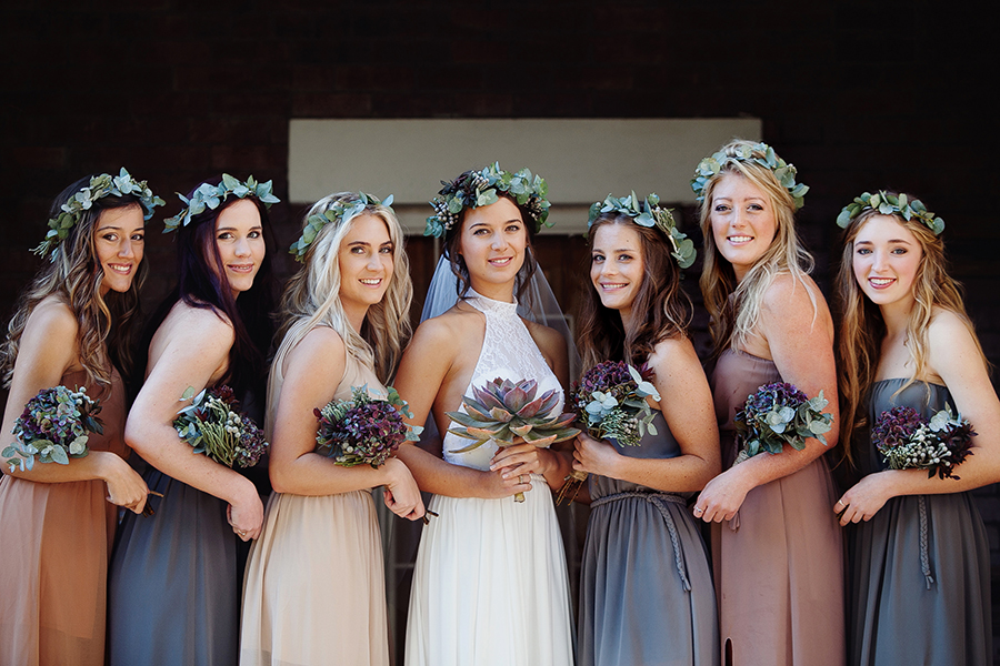 A Giant Succulent Bouquet Foliage Crowns Tree Stumps For An Earthy Rustic Wedding Chris Melissa