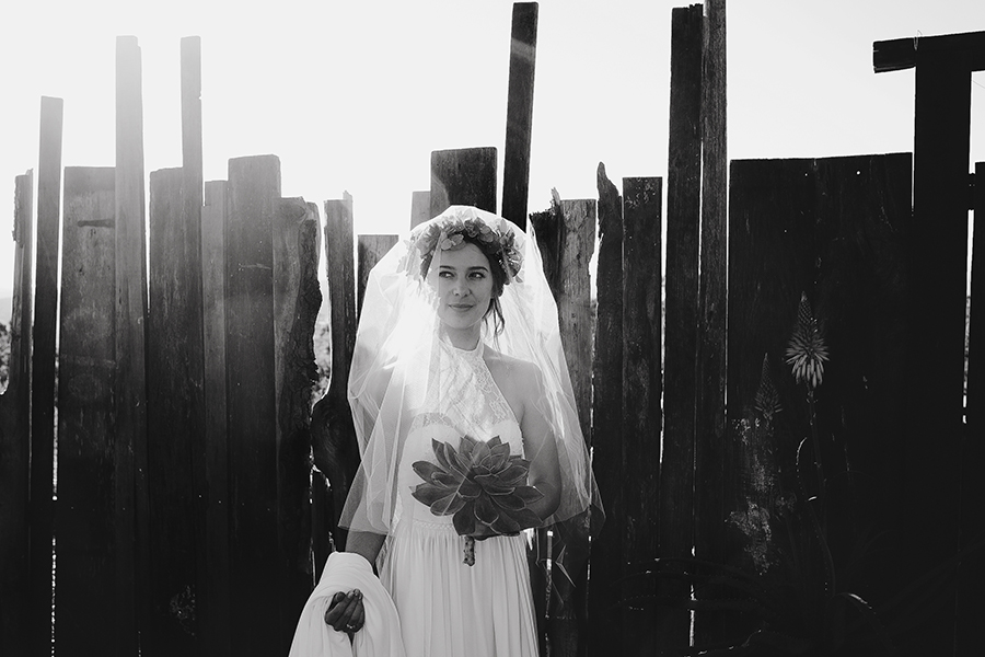 Foliage Crowns, Tree Stumps & a Giant Succulent Bouquet for an Earthy, Rustic Wedding: Chris & Mel