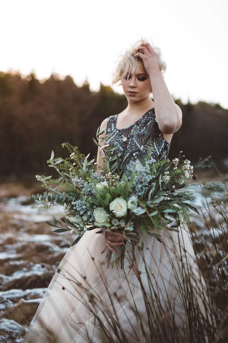 Vintage Wedding Dresses, Tulle Skirts & Sequin Crop Tops! A Wild Winter Bridal Shoot…