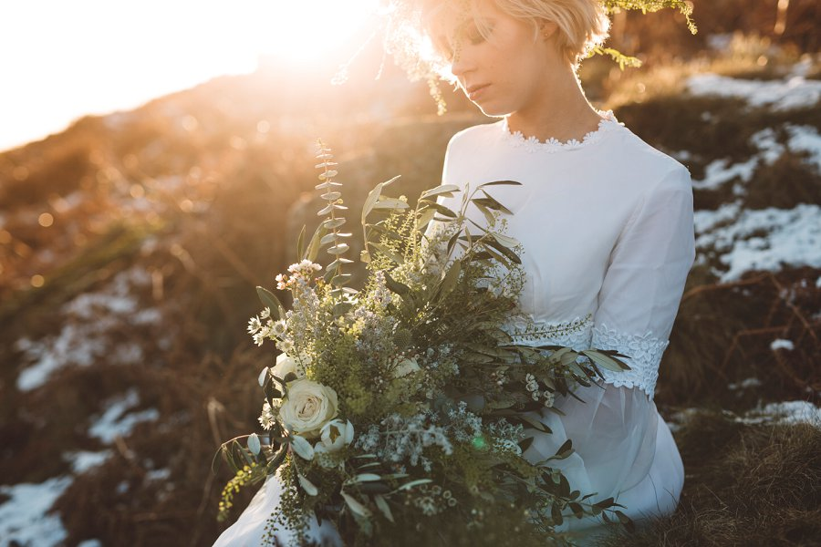 Vintage Wedding Dresses, Tulle Skirts & Sequin Crop Tops! A Wild Winter Bridal Shoot...