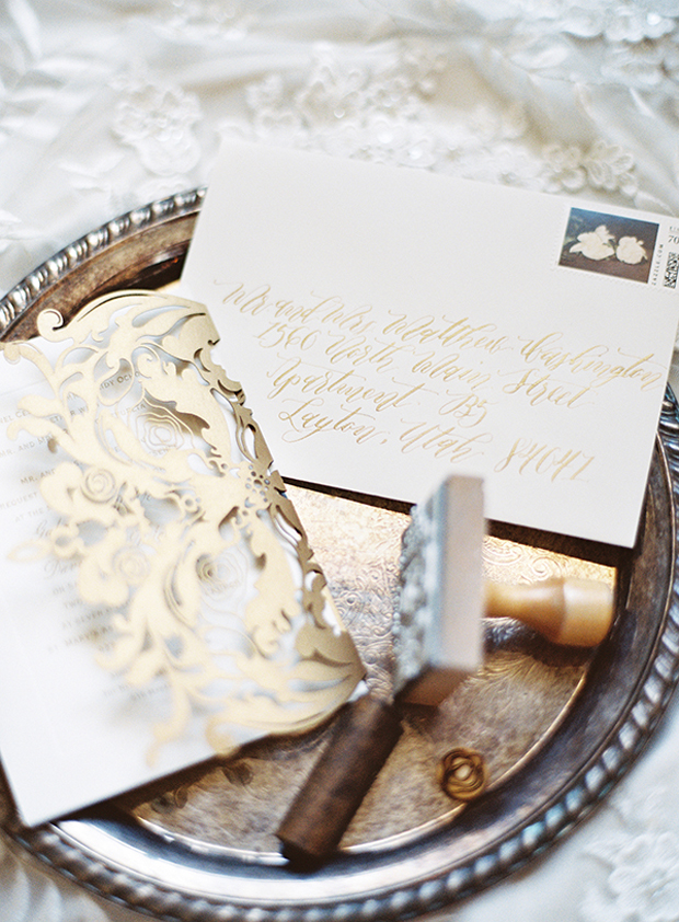 Winter's Romance: Muted Gold, Silver & Crystal Wedding Inspiration