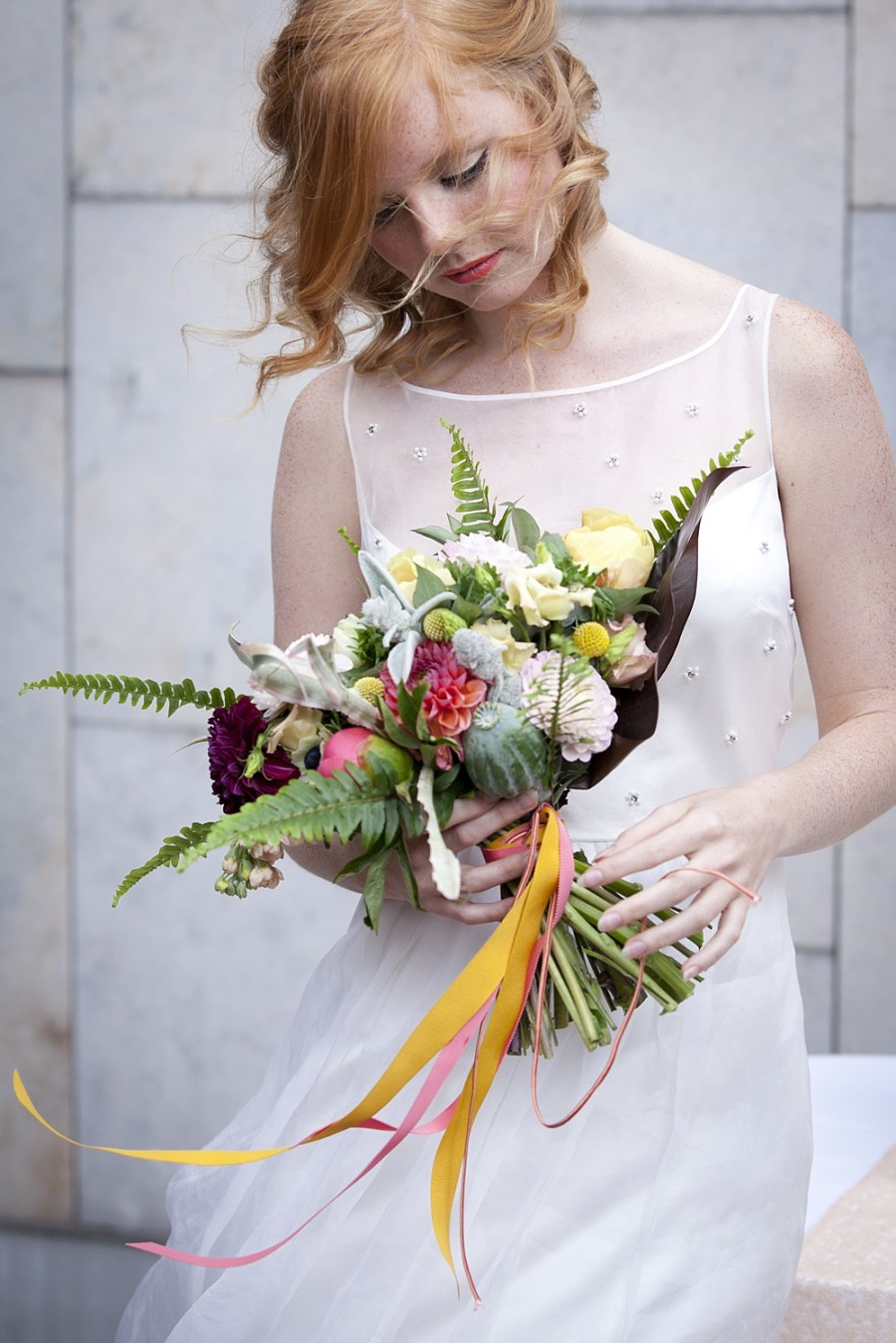 A Mid-century Modern Bridal Shoot with an Edgy Geometric Twist!