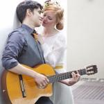 A Mid-century Modern Bridal Shoot with an Edgy Geometric Twist!