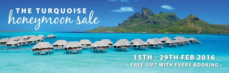 Don't miss the 2016 Turquoise Holidays Honeymoon Sale from 15 – 29 February with savings of up to £3650