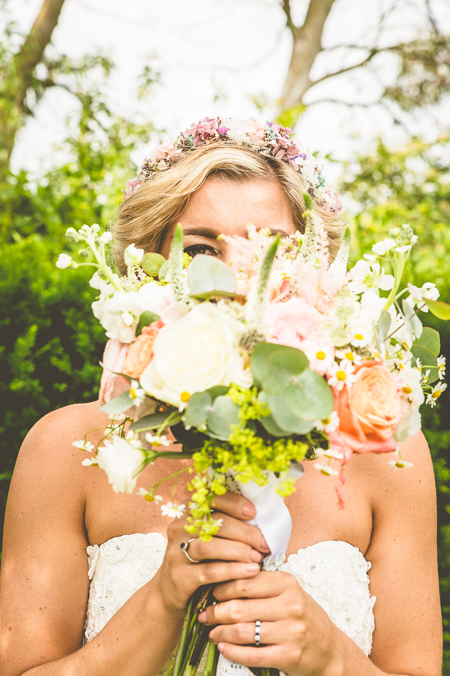 Flower Crown Bride & Floral Theme Outdoor Summer Wedding: Emily & Dan