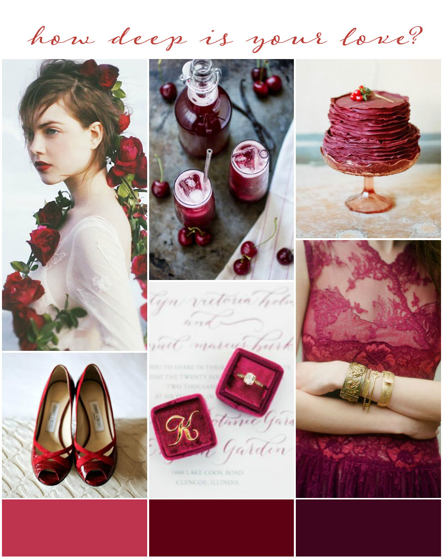 How Deep is your Love? Burgundy Wedding Inspiration & Colour Ideas