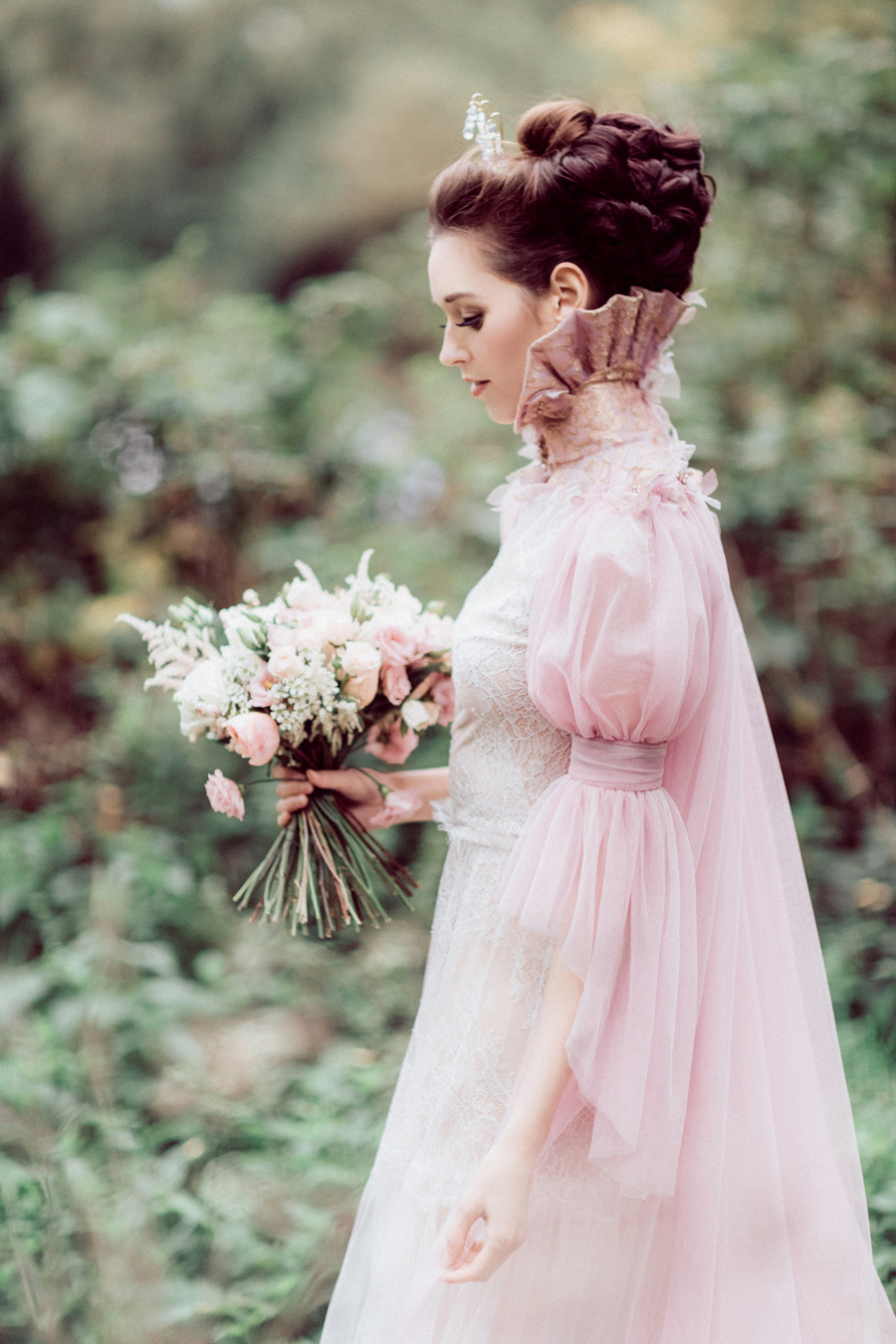 My Fair Lady! A Sophisticated Pale Pinks, Apricots & Lilac Inspired Bridal Shoot...