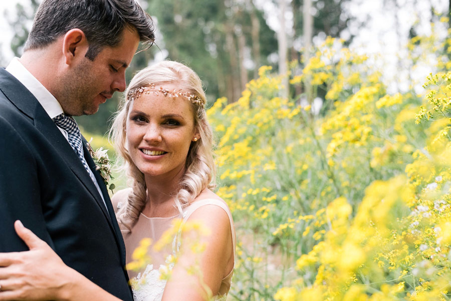 A Pretty Blush Pink Wedding with Proteas, Bunting & Lace Mike & Zoe (1)