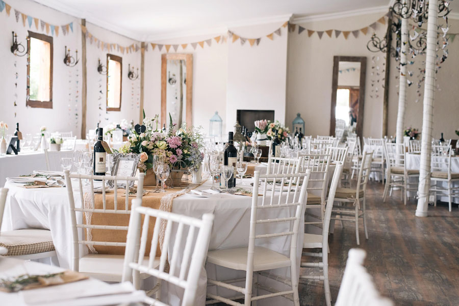 A Pretty Blush Pink Wedding with Proteas, Bunting & Lace Mike & Zoe (10)