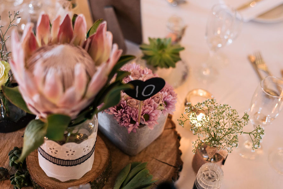 A Pretty Blush Pink Wedding with Proteas, Bunting & Lace Mike & Zoe (106)