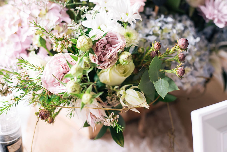A Pretty Blush Pink Wedding with Proteas, Bunting & Lace Mike & Zoe (15)