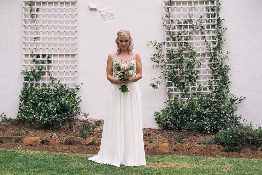 A Pretty Blush Pink Wedding with Proteas, Bunting & Lace Mike & Zoe (60)