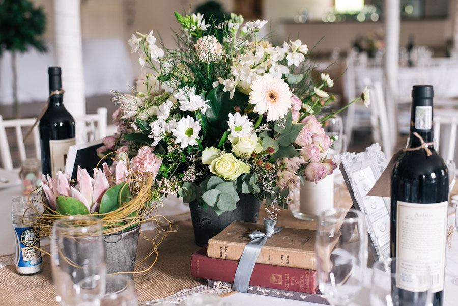 A Pretty Blush Pink Wedding with Proteas, Bunting & Lace Mike & Zoe (7)