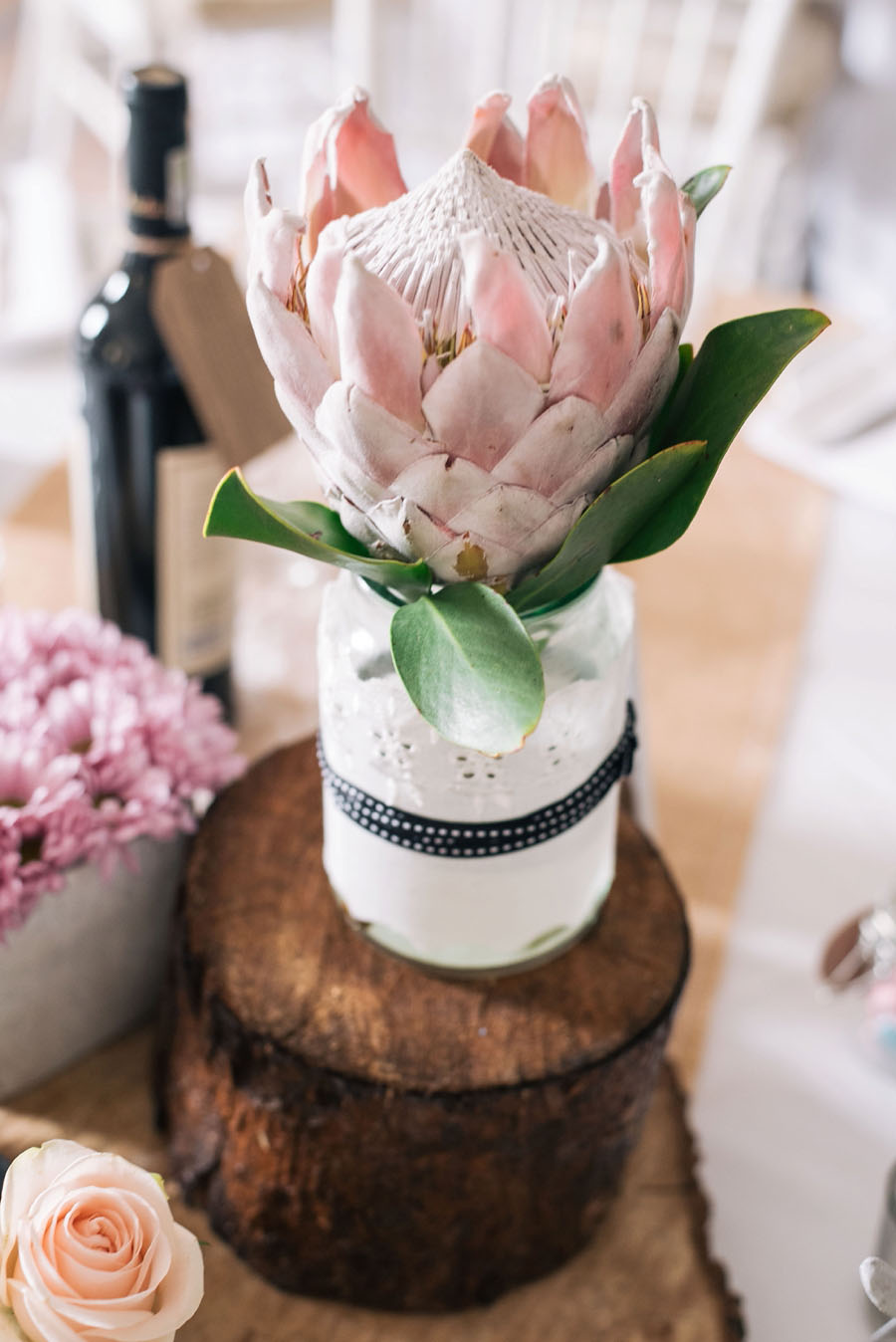 A Pretty Blush Pink Wedding with Proteas, Bunting & Lace Mike & Zoe (8)