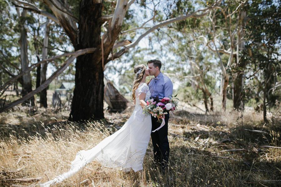 Amazing Wedding Dress Designer ANNA CAMPBELL'S Rustic Glam Wedding!