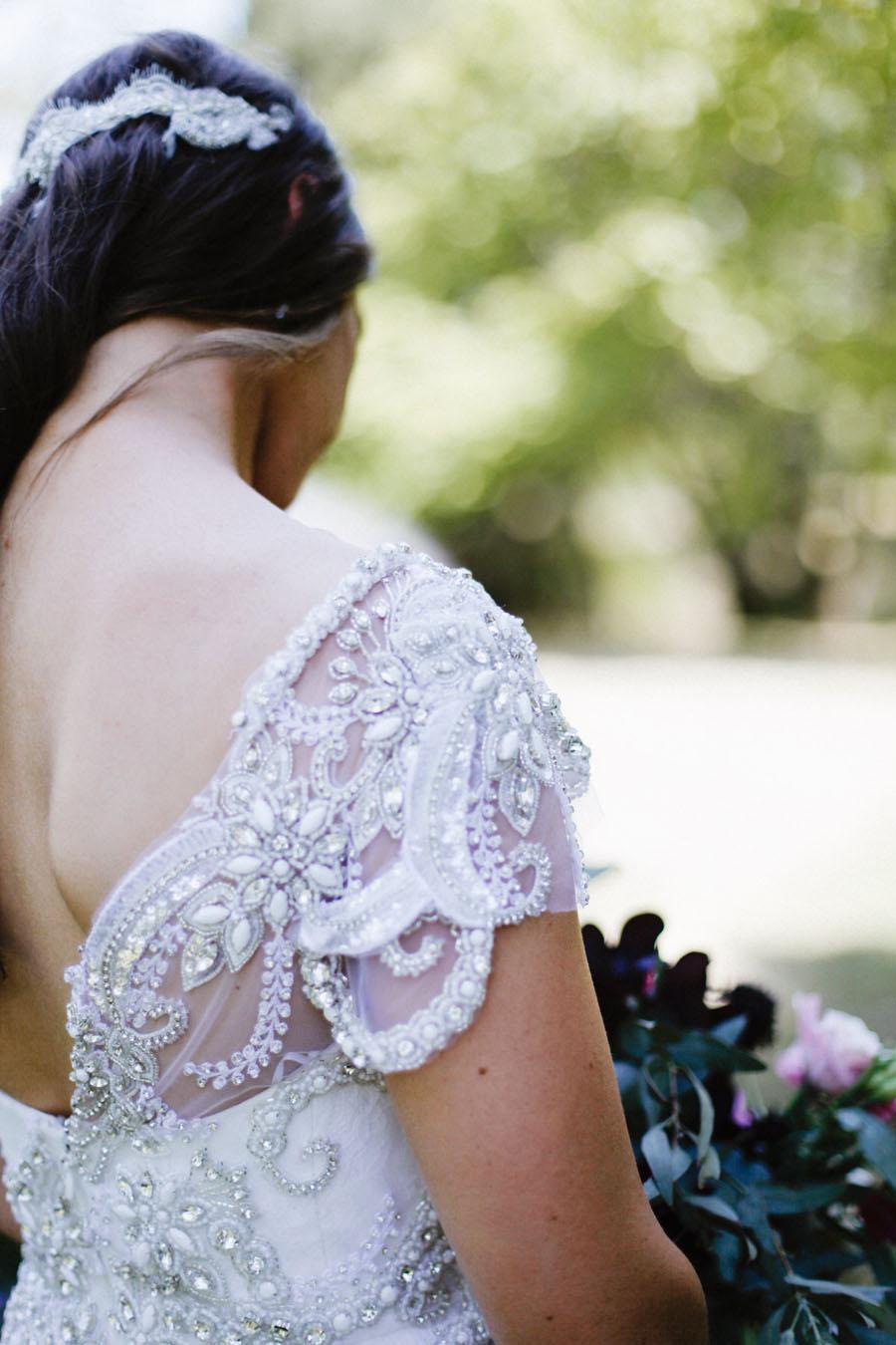 Uncategorized outdoor vintage glam wedding rustic wedding chic - Amazing Wedding Dress Designer Anna Campbell S Rustic Glam Wedding Bridalpulse