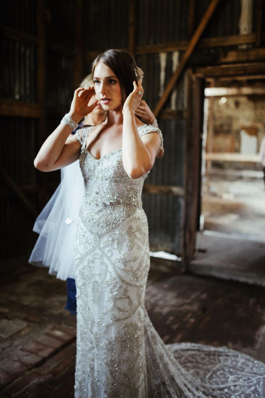 Amazing Wedding Dress Designer ANNA CAMPBELL\'S Rustic Glam Wedding ...