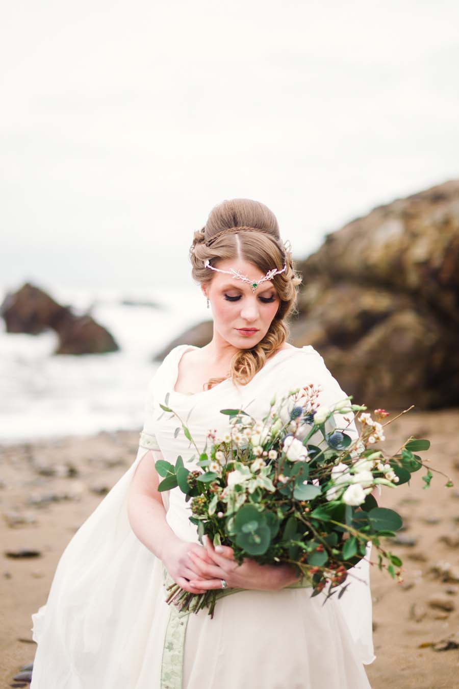 Bridal Editorial on the Cornish Coast With a Beautiful Celtic ...