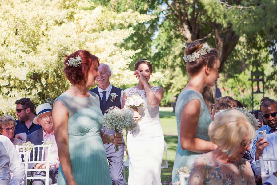 An Outdoor, Boho Style Wedding in Seville with Bougainvillea & Candles: Charlotte & Paul