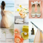 To celebrate the start of Spring - a perfect time of year to get married, I created this fresh and very springlike wedding inspiration colour board.