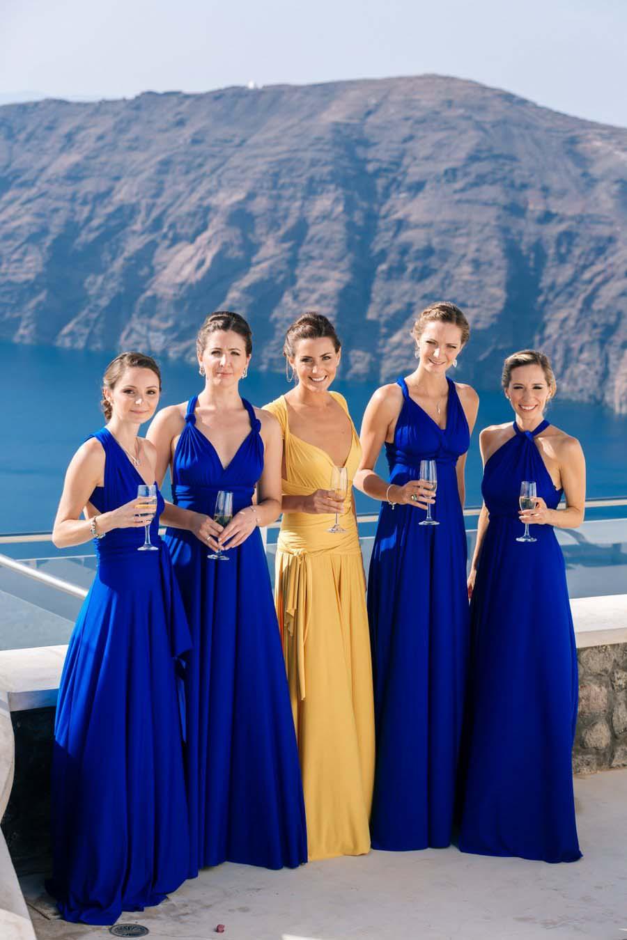 Sunflowers Seashells A Yellow Blue Santorini Destination