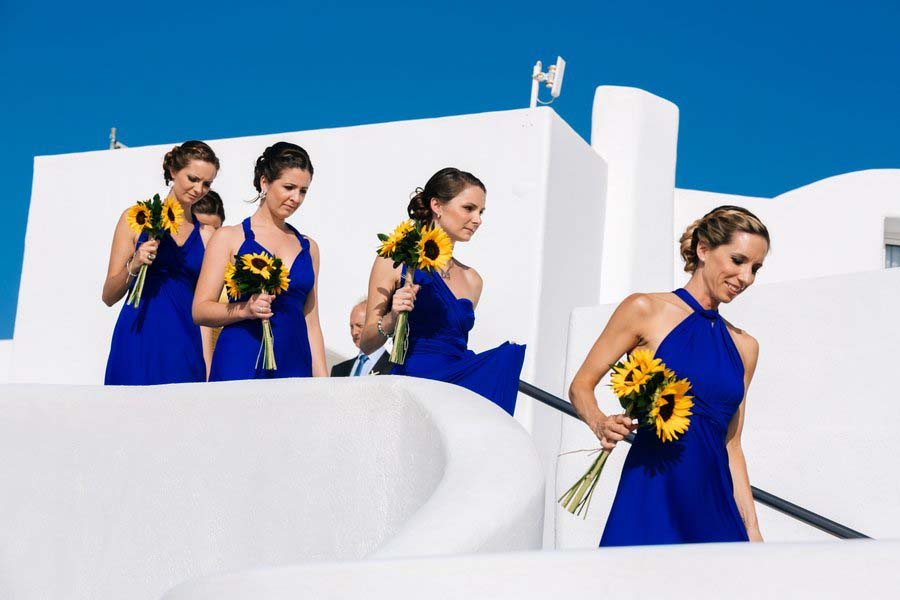 © www.Sunflowers & Seashells – A Yellow & Blue Santorini Destination Wedding: Rachel & Fraser.com