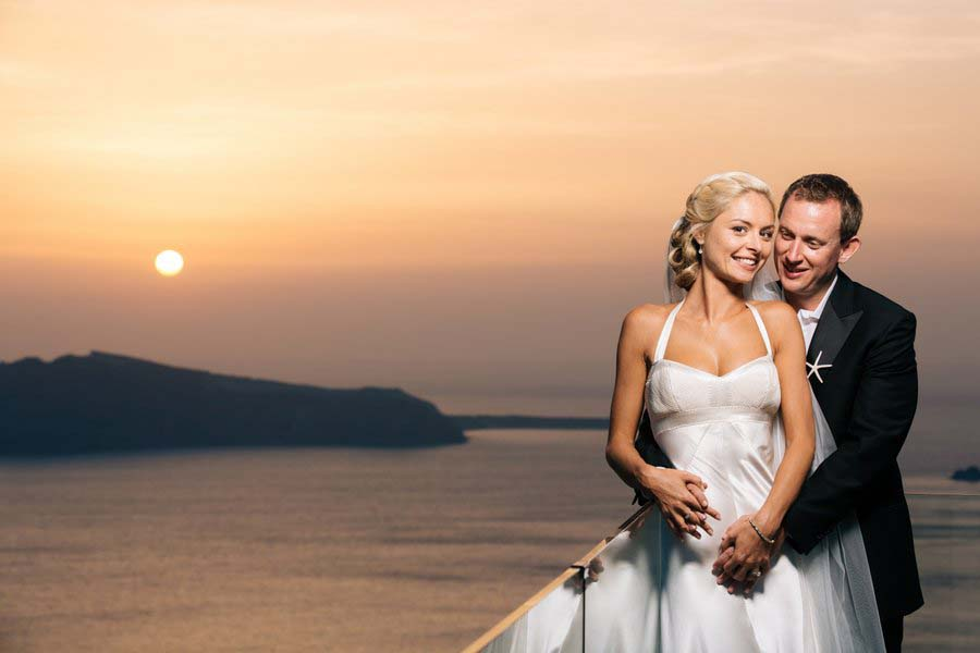 Sunflowers & Seashells - A Yellow & Blue Santorini Destination Wedding: Rachel & Fraser