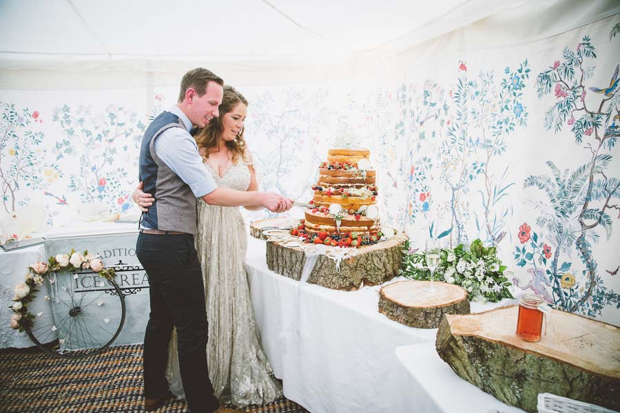 A Vintage / Boho Wildflower Country Farm Wedding: Reece & CatFarm Wedding149