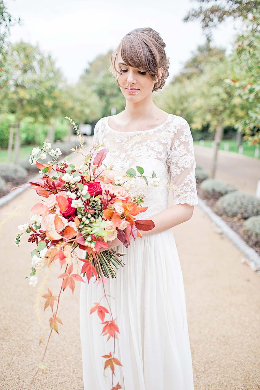 An Autumn Romance! Soft Rose & Autumnal Hues Wedding Inspiration