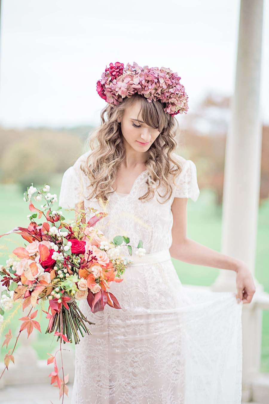 An Autumn Romance: Soft Rose & Autumnal Hues Wedding Inspiration