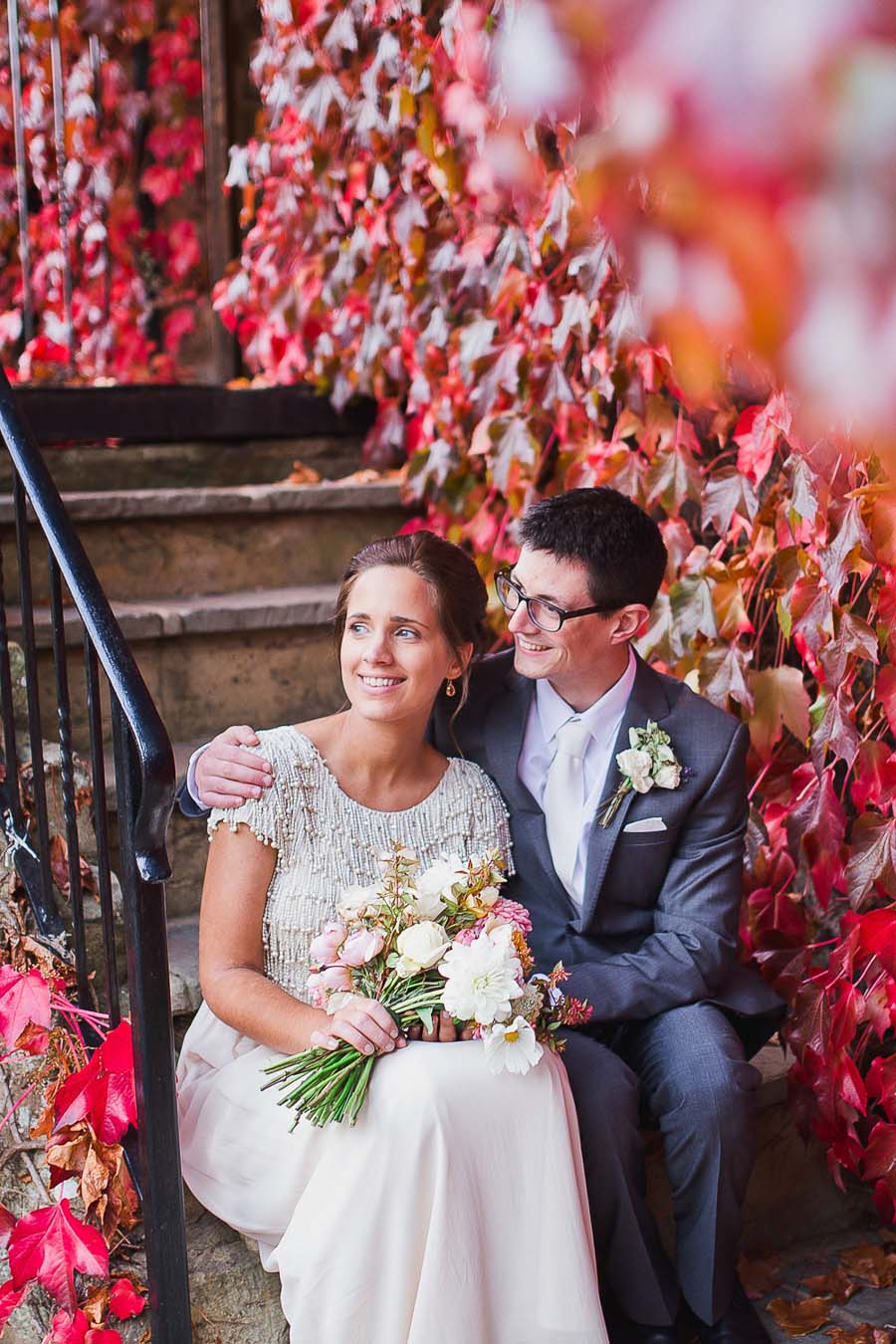 Beautiful Budget Wedding With Intricately Beaded Monsoon Wedding Dress: Hannah & Dan