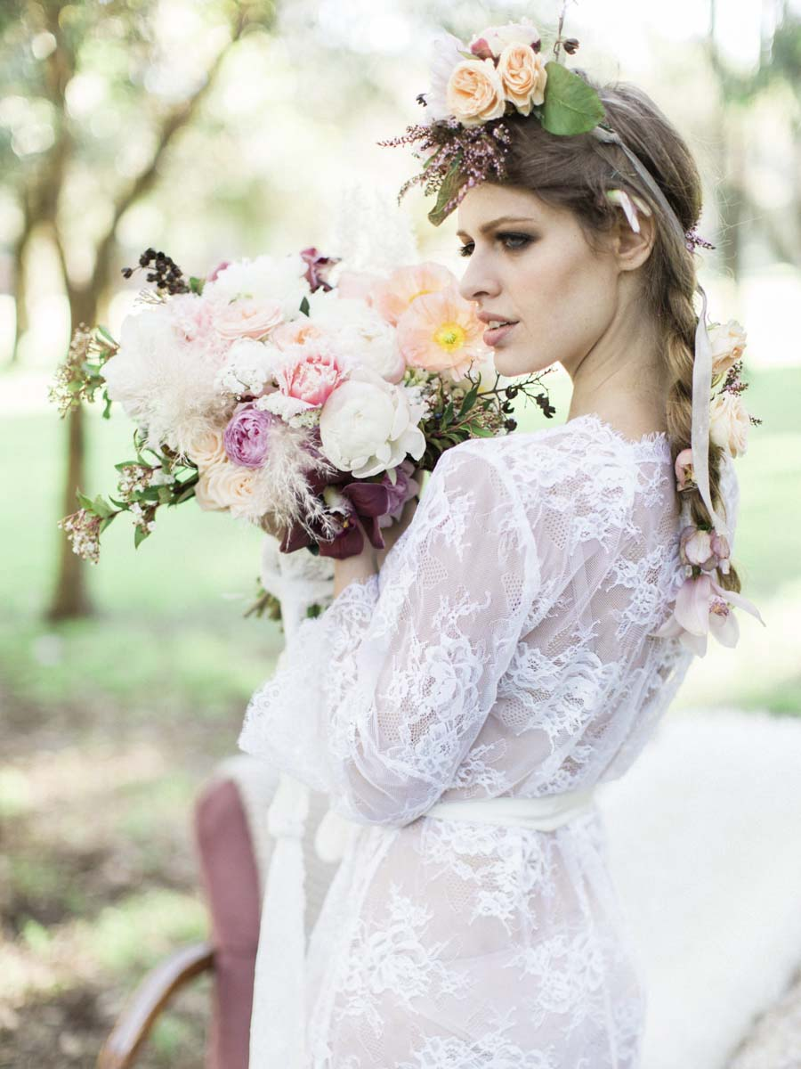 'Windswept Bride' A Beautiful Pastel Bohemian Styled Wedding Shoot!