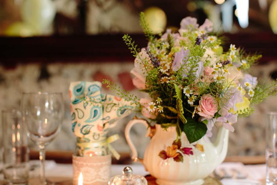 Wildflower Crown & Pale Yellow Boho Wedding: Tom & Jade