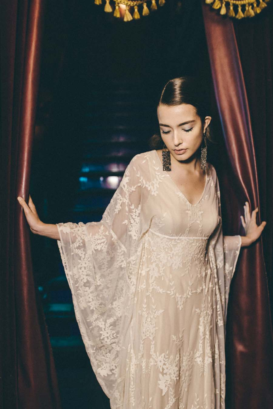 Glitter disco beautiful 70s inspired wedding dresses by for 1970 s style wedding dresses