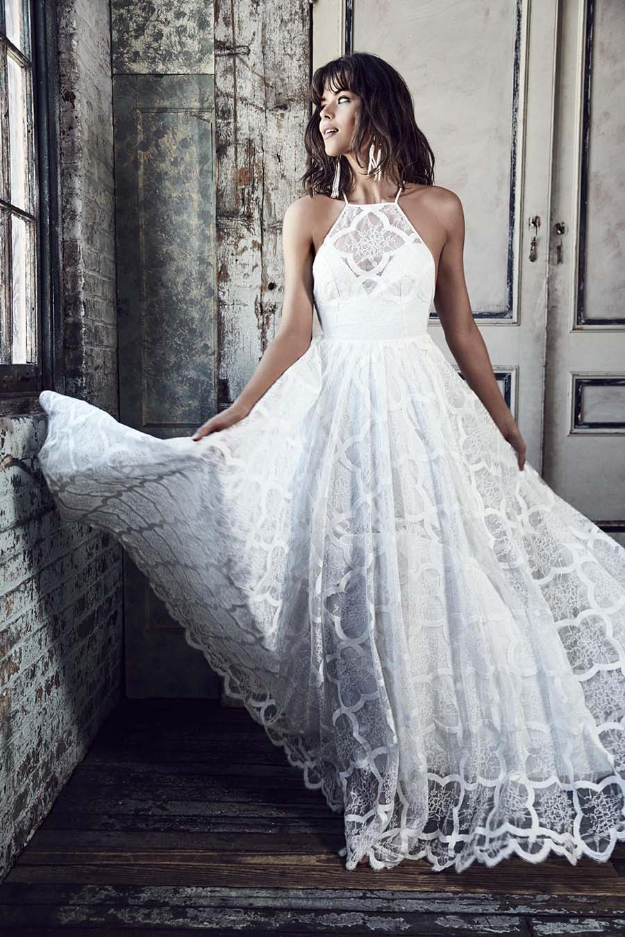 Unique Lace Wedding Dresses : Unique french lace wedding dresses grace loves presents blanc