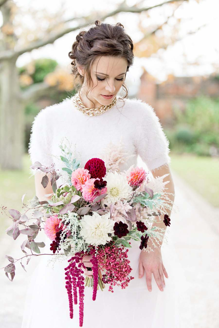 'Hollywood Glam' A Sophisticated, Feminine Bridal Shoot With Bold Burgundy!