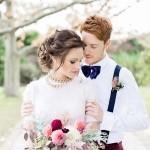 'Hollywood Glam' A Sophisticated, Feminine Bridal Shoot With Bold Burgundy!