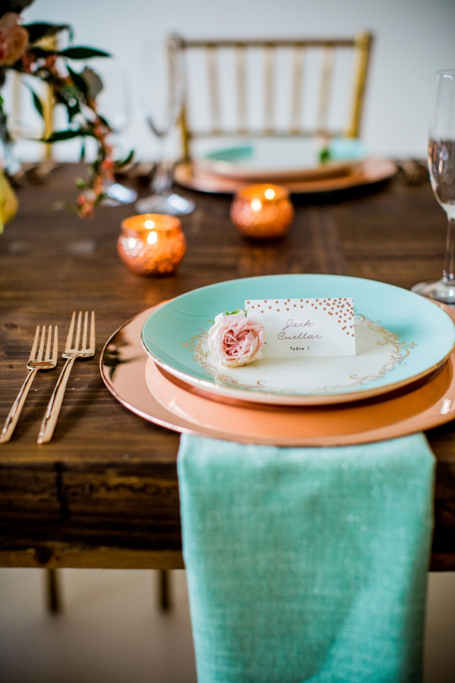 Rustic Mint and Gold: Wedding Inspiration and Ideas