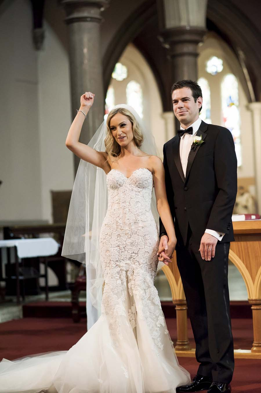 White Floral Wedding With Stunning Floral Embellished Wedding Dress ...