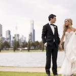 White Floral Wedding With Stunning Floral Embellished Wedding Dress: Elise & Julian