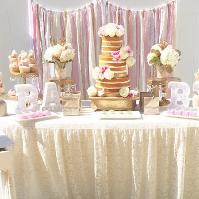 Wedding Garland etsy.com:listing:230700018:pink-gold-baby-shower-table-garland?ref=shop_home_active_13