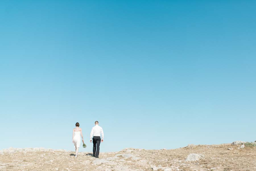A Rustic, Boho Elopement Wedding in Crete: Jennifer & David