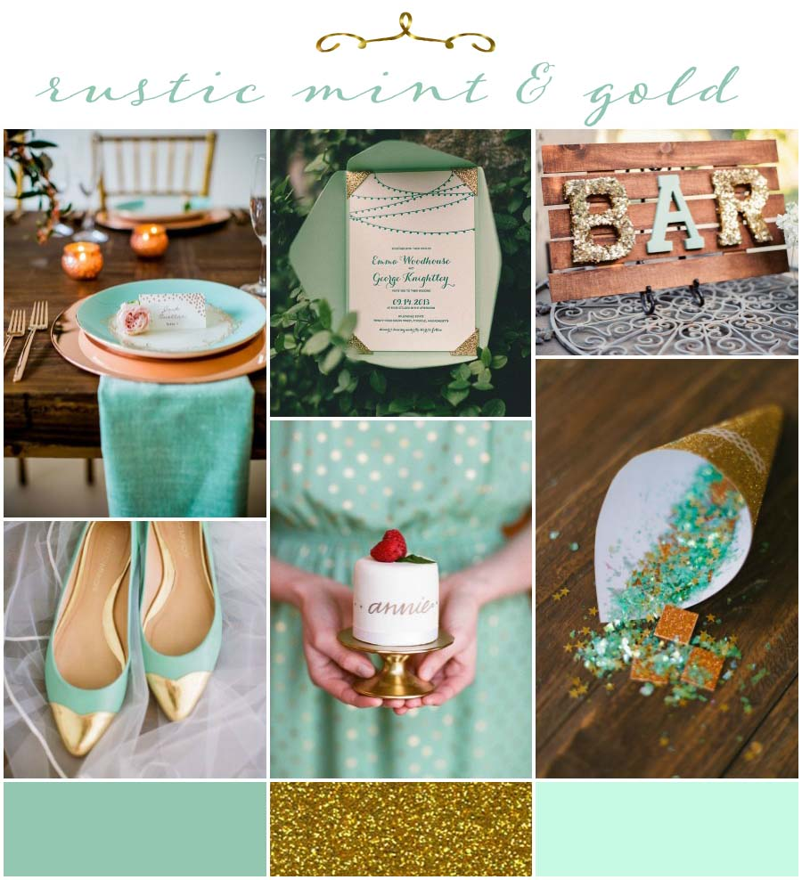 Rustic Mint and Gold: Wedding Inspiration and Ideas - BridalPulse