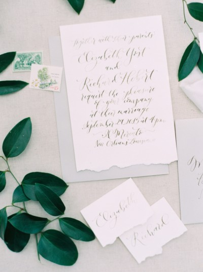 minimalist wedding stationery stylemepretty.com - greergphotography.com2