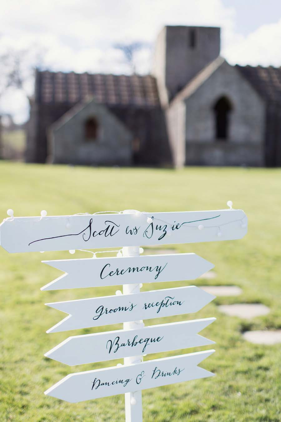 A Romantic, Handcrafted Calligraphy & Pretty Glass Bottles Real Wedding: Susie & Scott