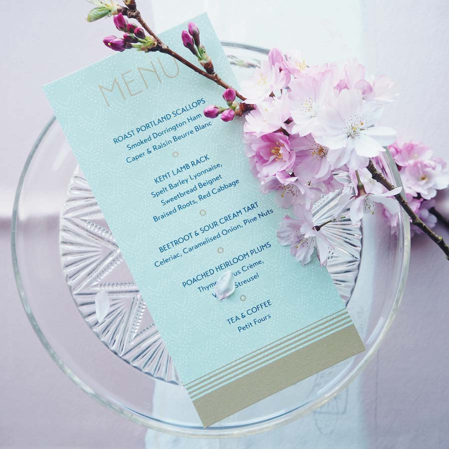Glamorous & Ethereal Wedding Stationery: Champagne & Mermaids Collection by Tiny Card Company
