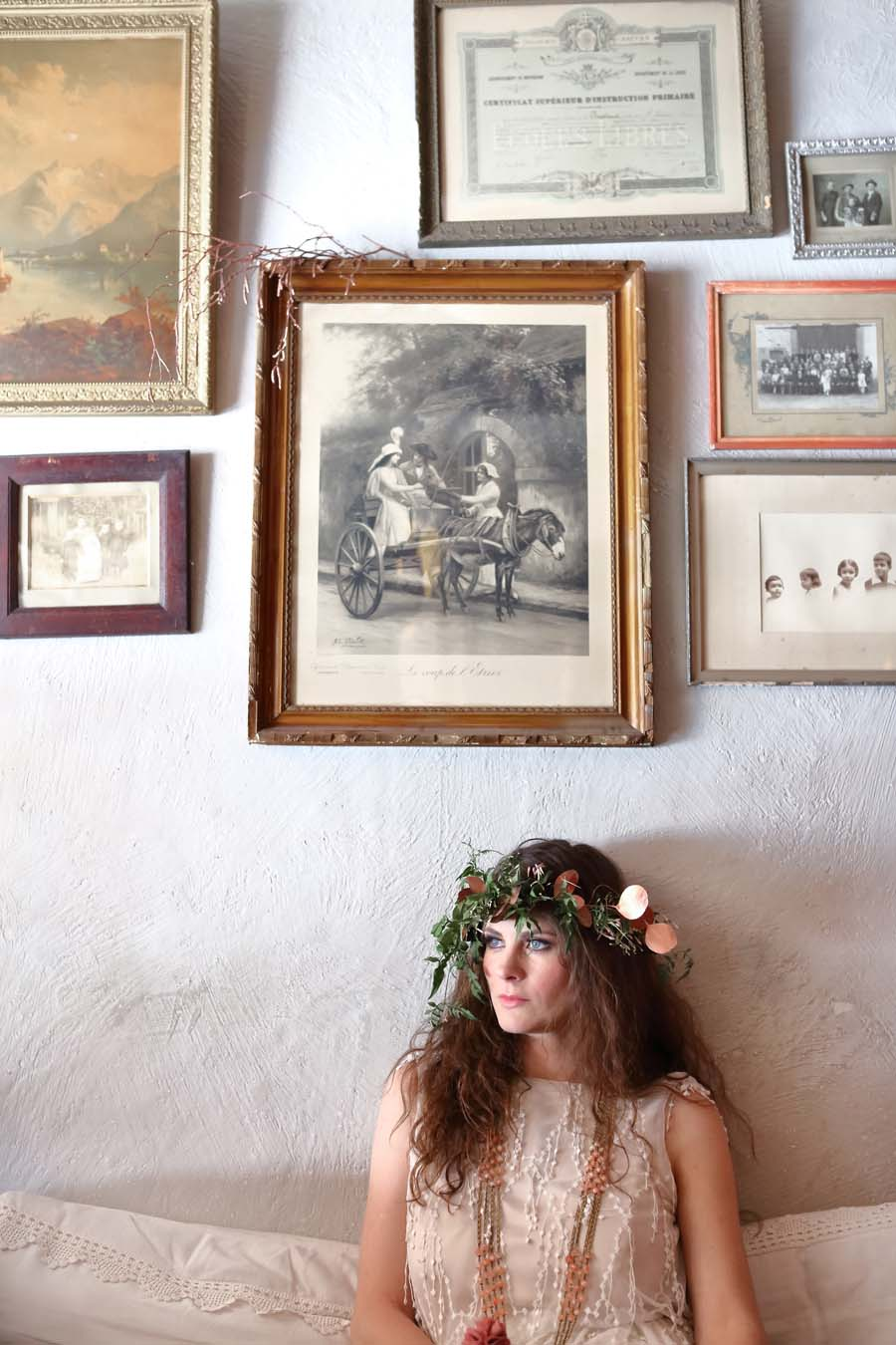 French Boho Chic: A Bijou Bride, in Copper & Blush