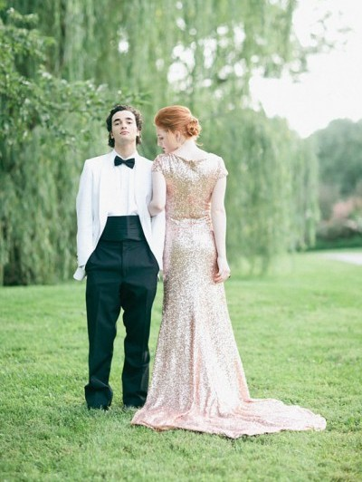 Etsy finds rose gold wedding dress from GibsonBespoke